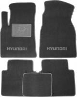 Коврики в салон для Hyundai Matrix '01-10 текстильные, серые (Люкс)