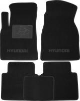 Коврики в салон для Hyundai Matrix '01-10 текстильные, черные (Люкс)