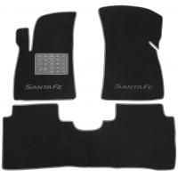 Коврики в салон для Hyundai Santa Fe '01-06 SM текстильные, серые (Люкс)