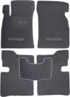 Коврики в салон для Hyundai Sonata '01-05 текстильные, серые (Люкс)
