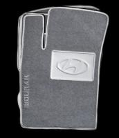 Коврики в салон для Hyundai Sonata '05-10 текстильные, серые (Люкс)