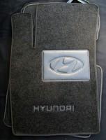 Коврики в салон для Hyundai Sonata '05-10 текстильные, черные (Люкс)