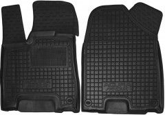 Коврики в салон передние для Acura MDX '14- резиновые, черные (AVTO-Gumm)