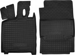 Коврики в салон для Mercedes Smart Fortwo '08-14 резиновые, черные (AVTO-Gumm)
