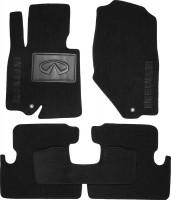 Коврики в салон для Infiniti EX (QX50) '08-17 текстильные, черные (Люкс)