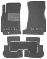 Коврики в салон для Infiniti FX '03-08 текстильные, серые (Люкс)