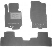 Коврики в салон для Infiniti FX (QX70) '09- текстильные, серые (Люкс)