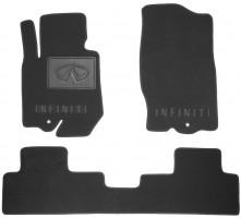 Коврики в салон для Infiniti FX (QX70) '09- текстильные, черные (Люкс)