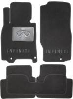 Коврики в салон для Infiniti G (Q50) Sedan '10- текстильные, черные (Люкс)