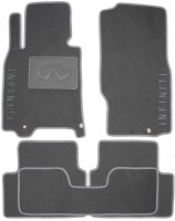 Коврики в салон для Infiniti G (Q50) Sedan '10- текстильные, серые (Люкс)