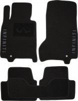 Коврики в салон для Infiniti G35 Sedan '07-10 текстильные, черные (Люкс)