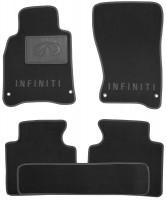 Коврики в салон для Infiniti M (Q70) '11- текстильные, черные (Люкс)