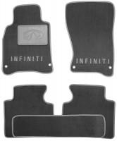 Коврики в салон для Infiniti M (Q70) '11- текстильные, серые (Люкс)