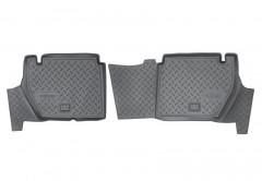 Коврики в салон для Peugeot Partner '08-12 задние, авто пасс. 4 двери полиуретановые (Nor-Plast)