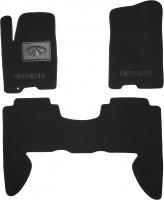 Коврики в салон для Infiniti QX56 '04-10 текстильные, черные (Люкс)