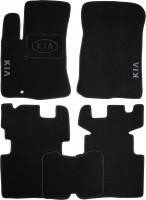 Коврики в салон для Kia Carens '07-12 текстильные, черные (Люкс) АКПП