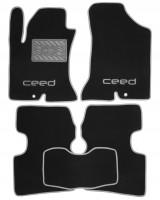 Коврики в салон для Kia Ceed '06-12 текстильные, серые (Люкс)