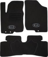Коврики в салон для Kia Cerato '09-13 текстильные, черные (Люкс)