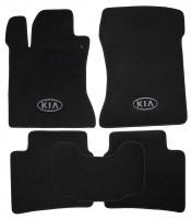 Коврики в салон для Kia Magentis '06-11 текстильные, черные (Люкс)