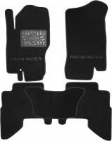 Коврики в салон для Nissan Pathfinder '05-14 текстильные, черные (Премиум)