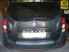Накладка на бампер для Renault Duster '10- (Premium)