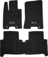Коврики в салон для Kia Mohave '09- текстильные, черные (Люкс)