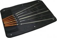 Набор шампуров с деревянными ручками  BQ-0710