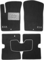 Коврики в салон для Kia Picanto '04-10 текстильные, серые (Люкс)