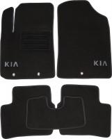 Коврики в салон для Kia Picanto '11-17 текстильные, темно-серые (Корона)