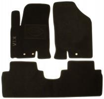 Коврики в салон для Kia Venga '10- текстильные, черные (Люкс)