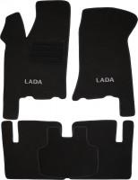 Коврики в салон для Lada (Ваз) 2110-12 текстильные, черные (Люкс)