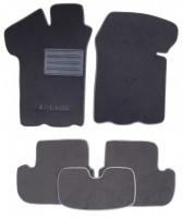 Коврики в салон для Lada (Ваз) 2108-2115 текстильные, серые (Люкс)