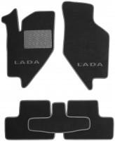 Коврики в салон для Lada (Ваз) Granta 2190 '11- текстильные, серые (Люкс)