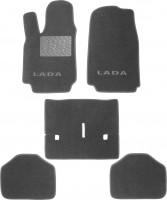 Коврики в салон для Lada (Ваз) Niva 2121 '94-06 текстильные, серые (Люкс)