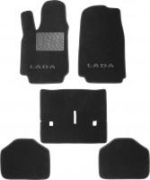 Коврики в салон для Lada (Ваз) Niva 2121 '94-06 текстильные, черные (Люкс)