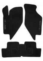 Коврики в салон для Lada Калина 1117-19 '04-13 текстильные, черные (Люкс)