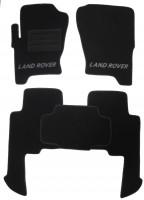 Коврики в салон для Land Rover Discovery 3 '04-09 текстильные, черные (Люкс)