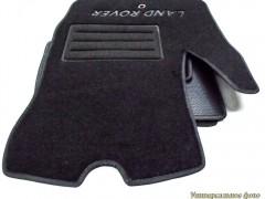 Коврики в салон для Land Rover Discovery 4 '09-16 текстильные, черные (Люкс)