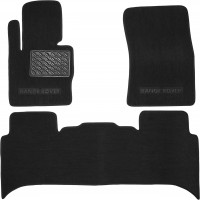 Коврики в салон для Land Rover Range Rover Vogue '02-12 текстильные, черные (Люкс)