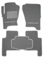 Коврики в салон для Land Rover Range Rover Sport '05-12 текстильные, серые (Люкс)