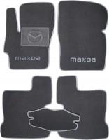 Коврики в салон для Mazda 3 '04-09 текстильные, серые (Люкс)