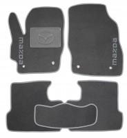 Коврики в салон для Mazda 3 '09-13 текстильные, серые (Люкс)