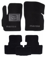 Коврики в салон для Mazda 5 '05-09 текстильные, черные (Люкс)