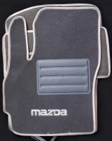 Коврики в салон для Mazda 5 '05-09 текстильные, серые (Люкс)