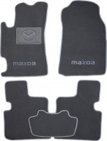 Коврики в салон для Mazda 6 '02-08 текстильные, серые (Люкс)