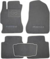 Коврики в салон для Mazda 6 '08-12 текстильные, серые (Люкс)