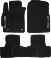 Коврики в салон для Mazda CX-7 '06-12 текстильные, черные (Люкс)