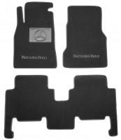 Коврики в салон для Mercedes A-Class W168 '97-04 текстильные, черные (Люкс)
