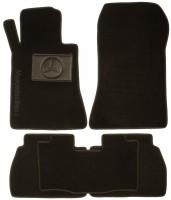Коврики в салон для Mercedes E-Class W210 '95-02 текстильные, черные (Люкс)