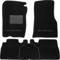 Коврики в салон для Mercedes ML-Class W163 '98-05 текстильные, черные (Люкс)